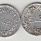 ROMANIA - 5 lei 1949 + CADOU 5 LEI 1950, RPR , L 1.41