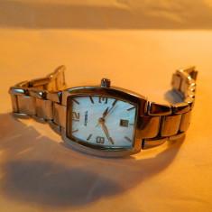 Ceas de dama Fossil din otel, cu data, 30M cod f27 - Ceas dama Fossil, Casual, Quartz, Inox, Metal necunoscut, Analog