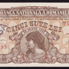 Romania, 500 lei 1947_cosasul_fals de epoca, UNC_serie J/I 0906495 - Bancnota romaneasca