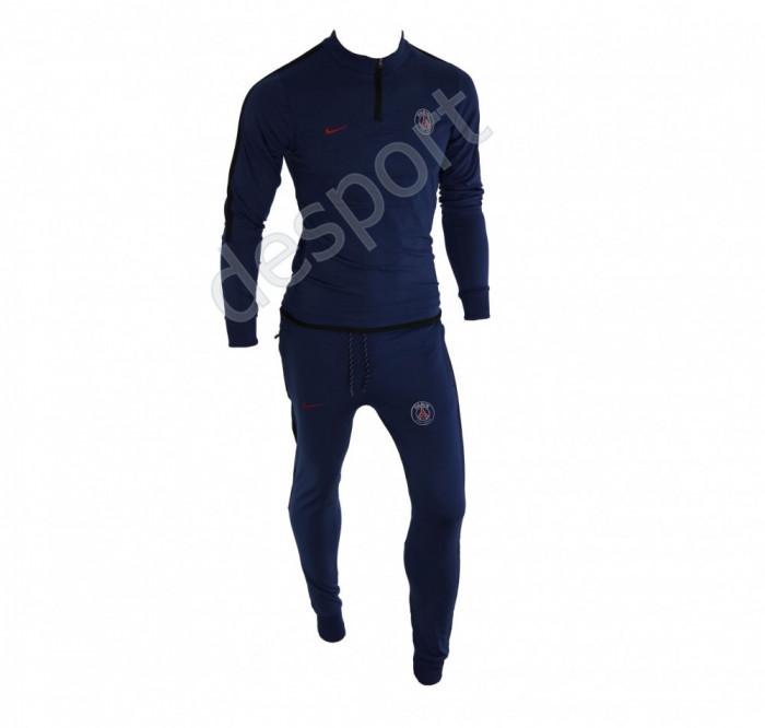 Trening PSG - Bluza si pantaloni conici - Model nou cu fermoar scurt - 1241