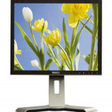 Monitor 17 inch LCD DELL 1708FP, Silver & Black, Stand USFF, 3 Ani Garantie - Monitor LCD