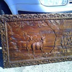 Tablou sculptat lemn masiv