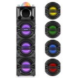 Auna DisGo sistem audio 365 părți Acumulator USB Bluetooth MP3 AUX VHF Karaoke LED-efect de iluminare incl. control de la distanță microfon fără fir - Echipament karaoke
