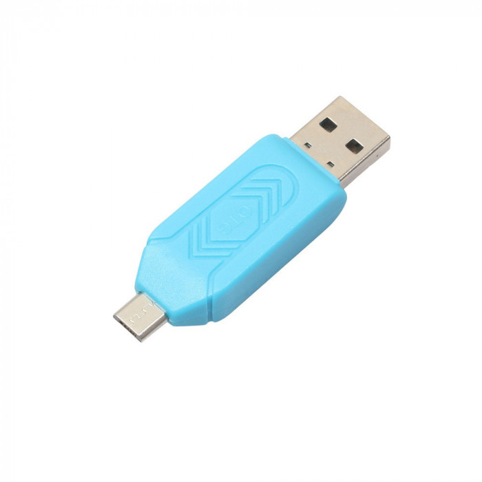 MINI USB 2.0 + OTG Micro SD / SDXC Cititor de card TF Adaptor U Disc