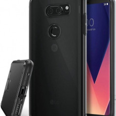 Husa Protectie Spate Ringke Fusion Smoke Black pentru LG V30 - Husa Telefon Ringke, Plastic, Carcasa