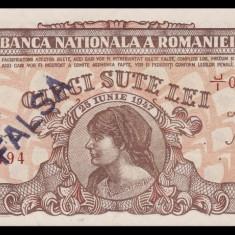 Romania, 500 lei 1947_cosasul_fals de epoca, UNC_serie J/I 0906494 - Bancnota romaneasca