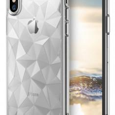 Husa Protectie Spate Ringke Prism Clear pentru Apple iPhone X - Husa Telefon Ringke, Plastic, Carcasa
