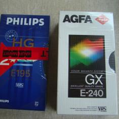 Lot 3 Casete Video VHS (1 Philips HG 195 + 2 AGFA GX E240) - NOI Sigilate