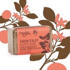 Sapun de Alep cu flori de portocal, 100 g – NAJEL