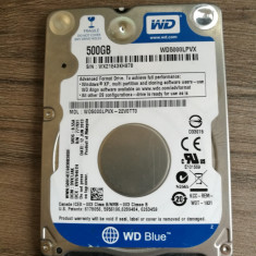 Hard Disk Laptop WD Blue (H19) WD5000LPVX 500GB, 5400rpm, 8 MB, SATA 3 - HDD laptop Western Digital, 500-999 GB