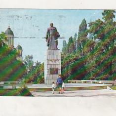 Bnk cp Satu Mare - Statuia Dr Vasile Lucaciu - circulata - marca fixa - Carte Postala Maramures dupa 1918, Printata