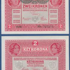 Austria 1917(1919) - 2 kronen supr. UNC - Carte Postala Transilvania 1904-1918