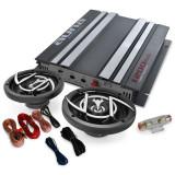 """Set HIFI auto """"Platinum Linia 200 'amp 1200 W - Pachete car audio auto Auna"""