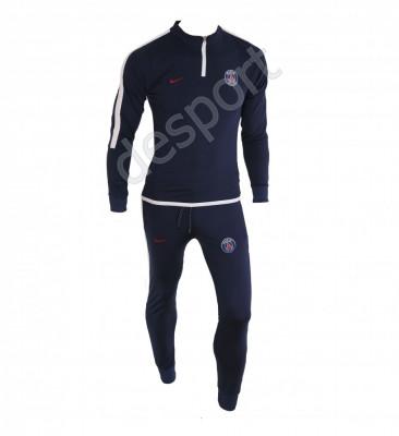 Trening PSG - Bluza si pantaloni conici - Model nou cu fermoar scurt - 1242 foto