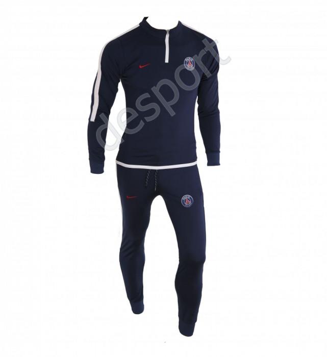 Trening PSG - Bluza si pantaloni conici - Model nou cu fermoar scurt - 1242