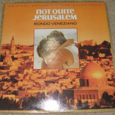 Vinyl/vinil Rondo Veneziano ‎– Not Quite Jerusalem(soundtrack), England 1985 - Muzica soundtrack