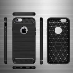 Carcasa de protectie Carbon Fiber din silicon TPU pt Apple iPhone 7 / 8
