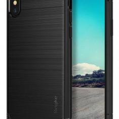 Husa Protectie Spate Ringke Onyx Black pentru Apple iPhone X - Husa Telefon Ringke, Gel TPU, Carcasa