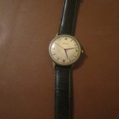 Ceas movado vechi functiona perfect dar a stat la mana pret de defect c20 - Ceas barbatesc Movado, Mecanic-Manual, Metal necunoscut, Piele, 1970 - 1999, Diametru carcasa: 37