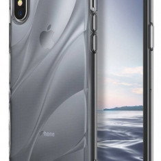 Husa Protectie Spate Ringke Flow Smoke Black pentru Apple iPhone X - Husa Telefon Ringke, Plastic, Carcasa