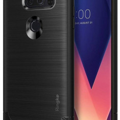 Husa Protectie Spate Ringke Onyx Black pentru LG V30 - Husa Telefon Ringke, Gel TPU, Carcasa