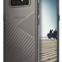 Husa Protectie Spate Ringke Bevel Smoke Black pentru Samsung Galaxy Note 8 - Husa Telefon Ringke, Gel TPU