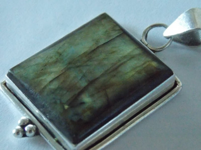 Pandant argint vintage cu labradorit  -2400 foto