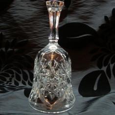 CLOPOTEL DIN CRISTAL MASIV - Arta din Sticla