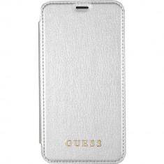 Husa Flip Cover Guess GUFLBKPXIGLTSI Agenda Piele Alb pentru APPLE iPhone X - Husa Telefon