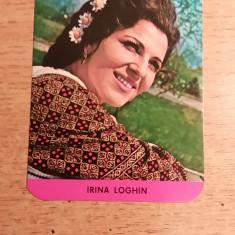 CCO 1975 - CALENDAR DE COLECTIE - TEMATICA ARTISTI - IRINA LOGHIN - ANUL 1975 - Calendar colectie