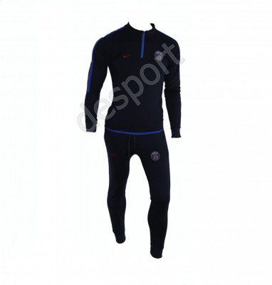 Trening PSG - Bluza si pantaloni conici - Model nou cu fermoar scurt - 1243 foto