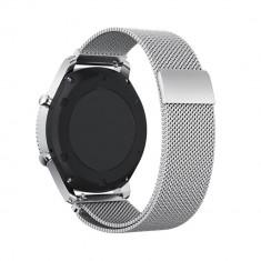 Curea metalica argintie cu magnet pentru Vector Luna / Meridian - Curea ceas din metal