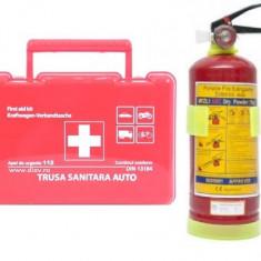 Kit Dotare Auto Obligatorie Cod Rutier: Trusa Medicala si Stingator Valab 5 Ani - Trusa auto prim ajutor