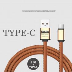 Cablu date siincarcare piele eco (type C) - Cablu de date
