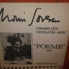 -Y- MARIN SORESCU - CITESTE DIN VERSURILE SALE - POEME 1965 - DISC VINIL - Muzica soundtrack electrecord