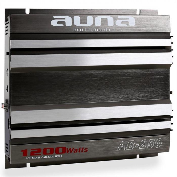 Amplificator de mașină AUNA AB-250 1200 Watt 2-Canale foto mare