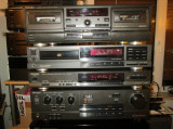 Linie audio stereo Technics ( 4 piese ) si Yamaha ( 3 piese), Separate, 41-80 W