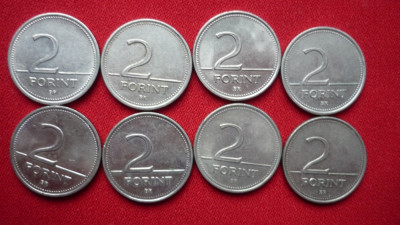 2 FORINT 1993, 1994, 1996, 1997, 1999, 2000, 2001, 2003. LOT 8 BUC. foto