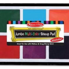 Tusiera Jumbo Cu Cerneala Nontoxica Melissa And Doug 6 Culori - Jocuri arta si creatie Melissa & Doug