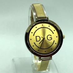 CEAS dama D&G, Dolce & Gabbana Gold edition (Poze relae, Garantie), Quartz, Inox
