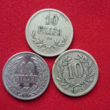 10 HELLER 1915, 10 FILLER 1915, 1894., Europa