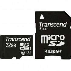 Card de memorie Transcend Micro SDHC 32 GB Clasa 10 adaptor SD