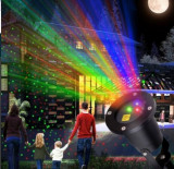 Laser Exterior Craciun cu rosu verde albastru