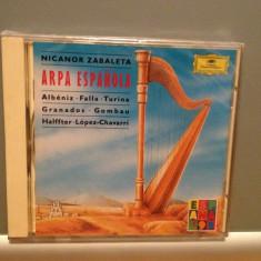 N.ZABALETA - ARPA ESPANOLA(1979/DEUTSCHE GRAMMOPH/RFG) - CD/ORIGINAL/NOU/SIGILAT - Muzica Clasica Deutsche Grammophon