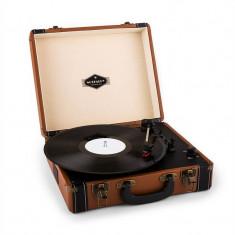 Auna Jerry Lee Retro Platane LP USB maro - Pickup audio