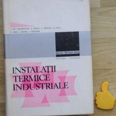 Iinstalatii termice industriale Carabogdan Badea - Carti Energetica