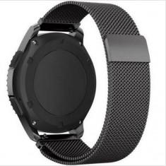 Curea metalica neagra cu magnet pentru Vector Luna / Meridian - Curea ceas din metal