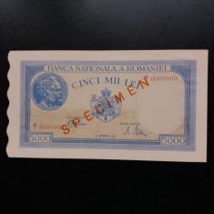 Bancnote romanesti specimen 5000lei 1943 - Bancnota romaneasca