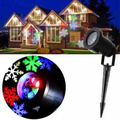 Outdoor Projector LED Light cu Fulgi de Zapada Color, Metalic