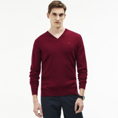 Pulover Lacoste 100% original |  XL | Nou in tipla, compozitie lana
